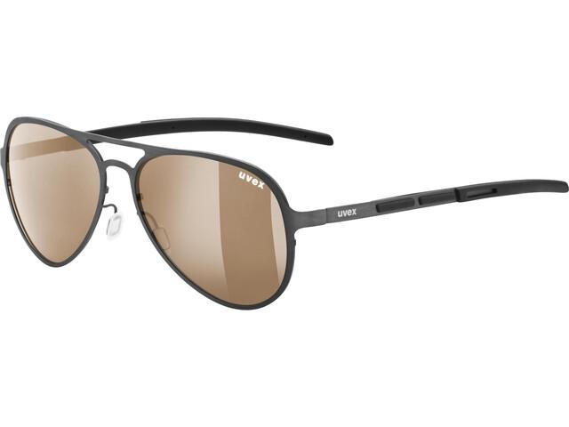 UVEX LGL 33 Pola Gafas, gun/brown